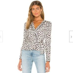 Bailey 44 Marguerite Mini Leopard Print Wrap Top